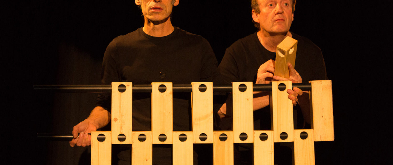 Photo extraite du spectacle Les frères Bricolo