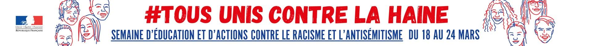 Bannière de la semaine contre le racisme