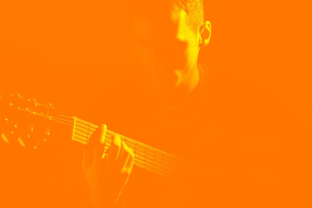 Guitariste en train de jouer