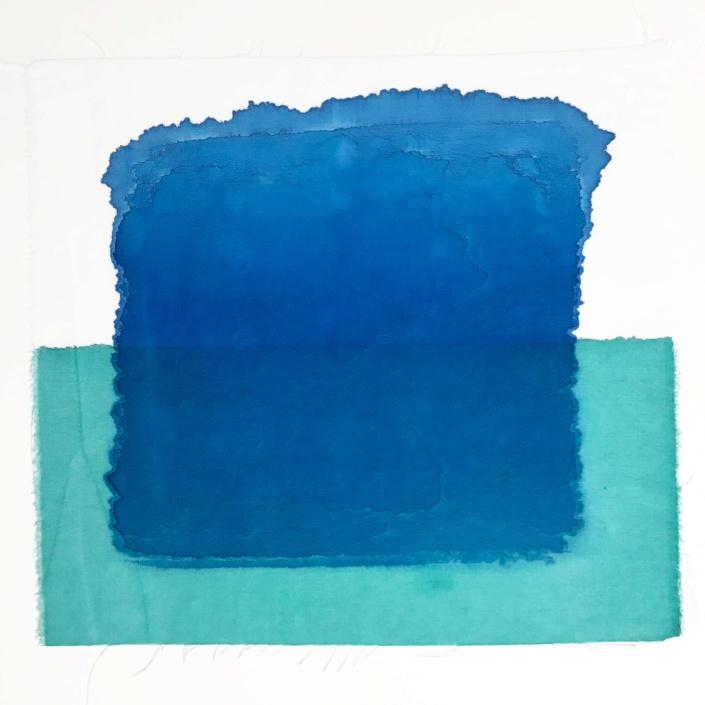transparence bleu-vert de l'île d'Anjwa, ségolène perrot