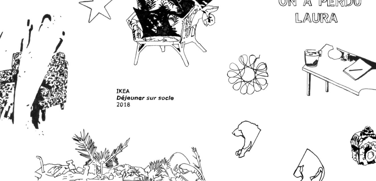 Illustrations de julie hans vasquez pour l'exposition Presque rien