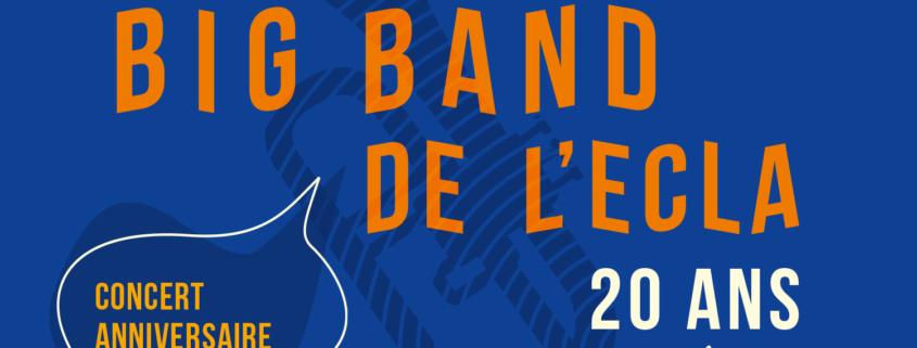 Visuel du concert des 20 ans du Big Band