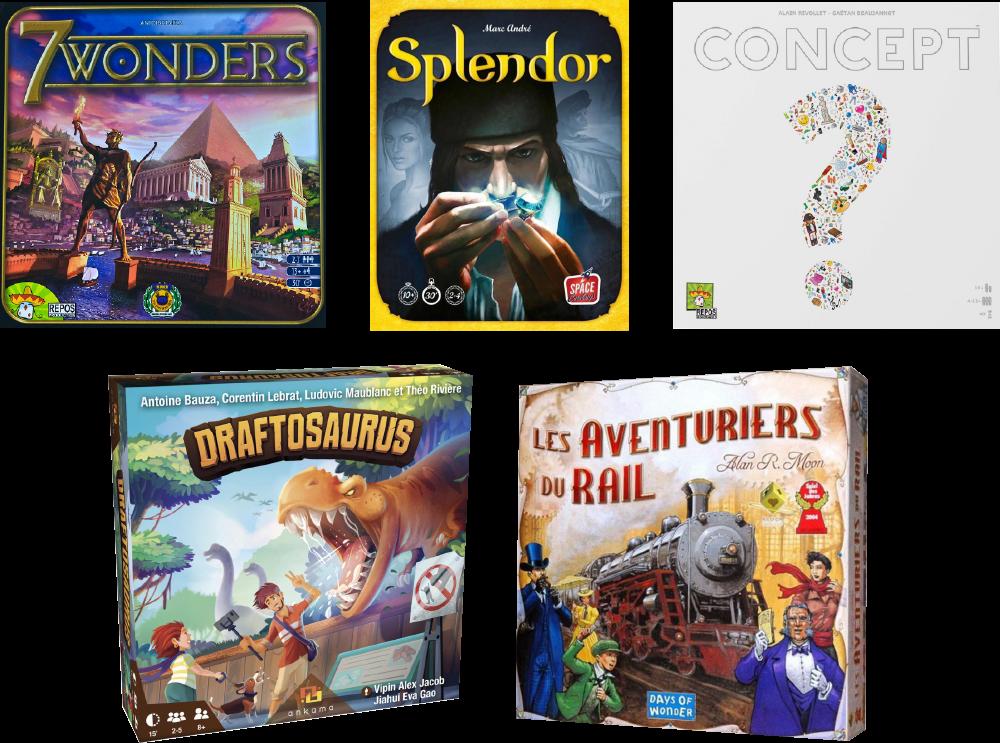 Boîtes de jeux de sociétés