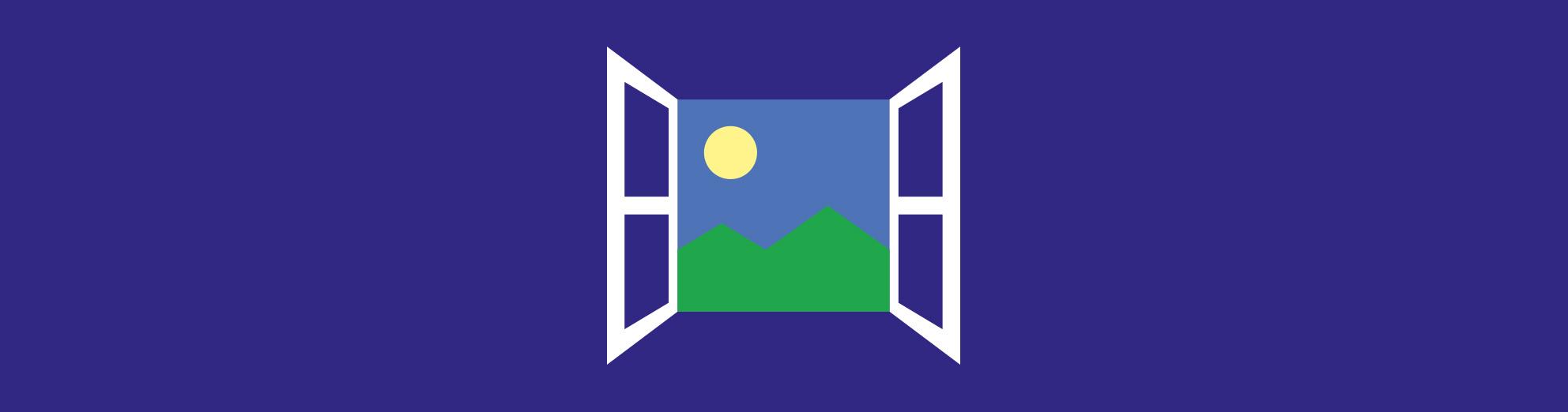 Dessin de fenêtre ouverte
