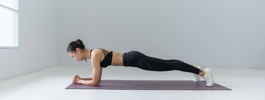 photo of woman doing yoga