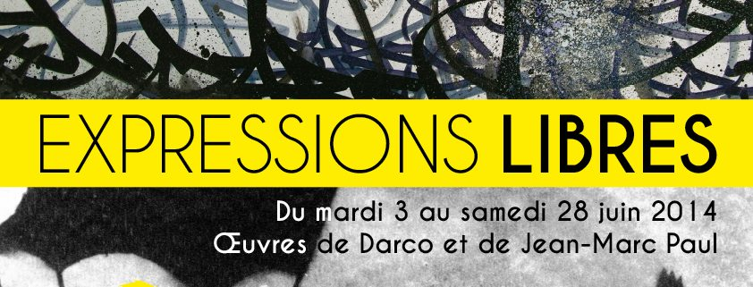 Affiche de l'exposition Expressions libres
