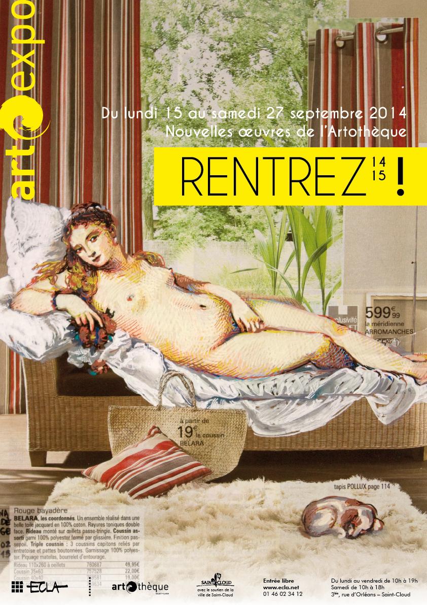 Affiche de l'exposition Rentrez 14 15 !