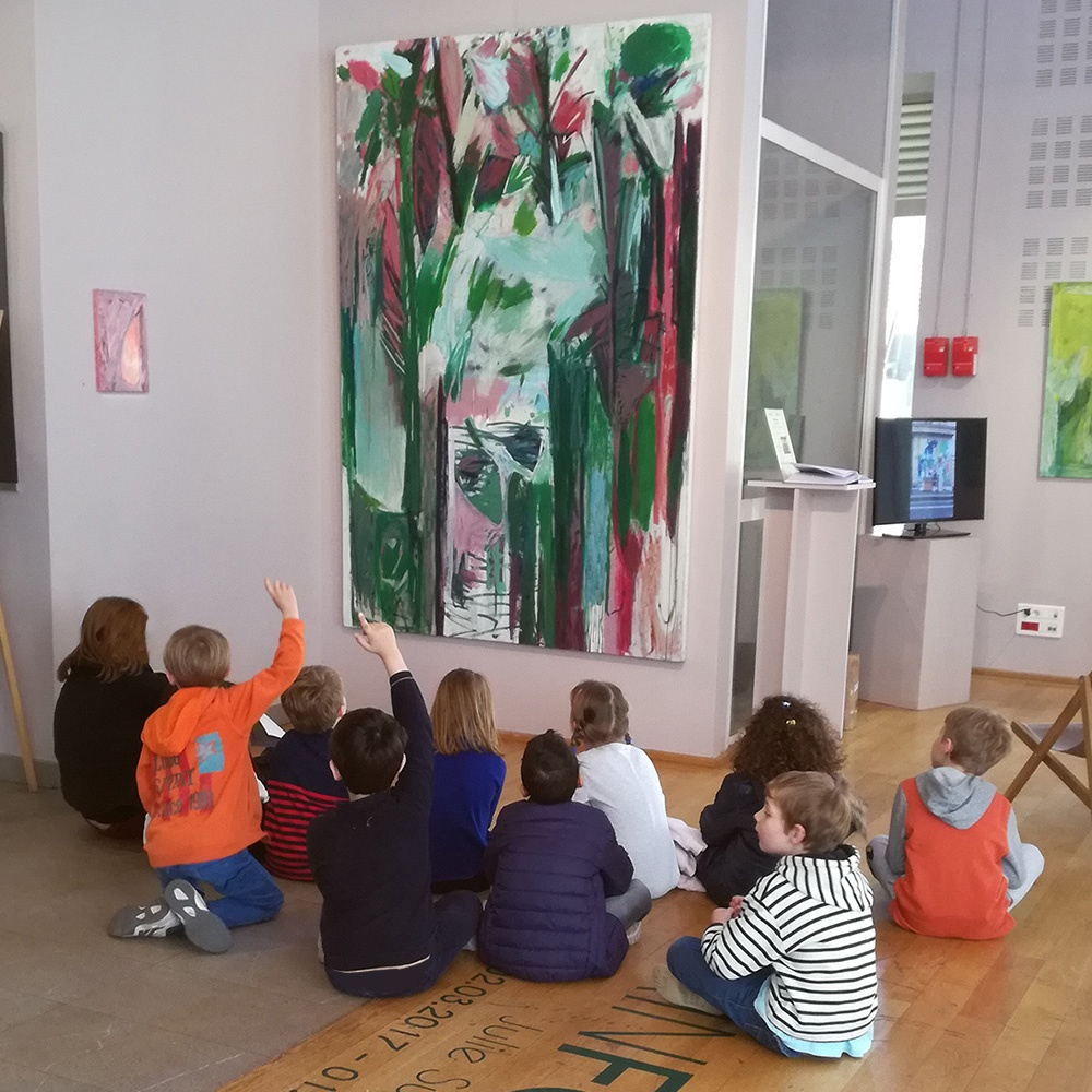 Visite de classe, exposition Rainforest